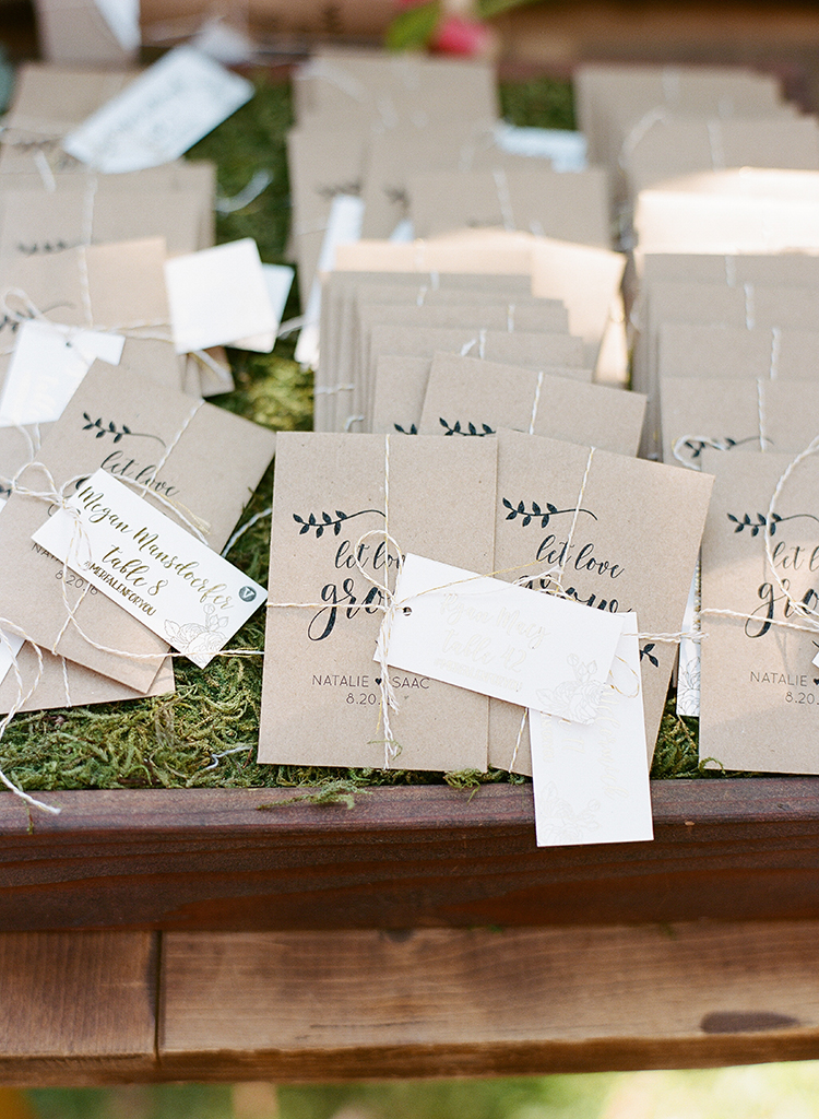 seed packet wedding favors - photo by Erica Schneider Photography http://ruffledblog.com/vegetable-garden-inspired-wedding-with-seriously-lush-details