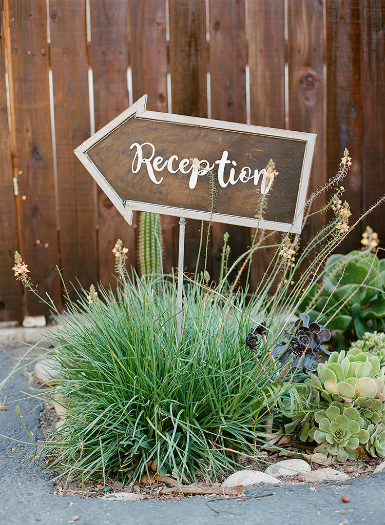 reception wedding signs - photo by Erica Schneider Photography http://ruffledblog.com/vegetable-garden-inspired-wedding-with-seriously-lush-details