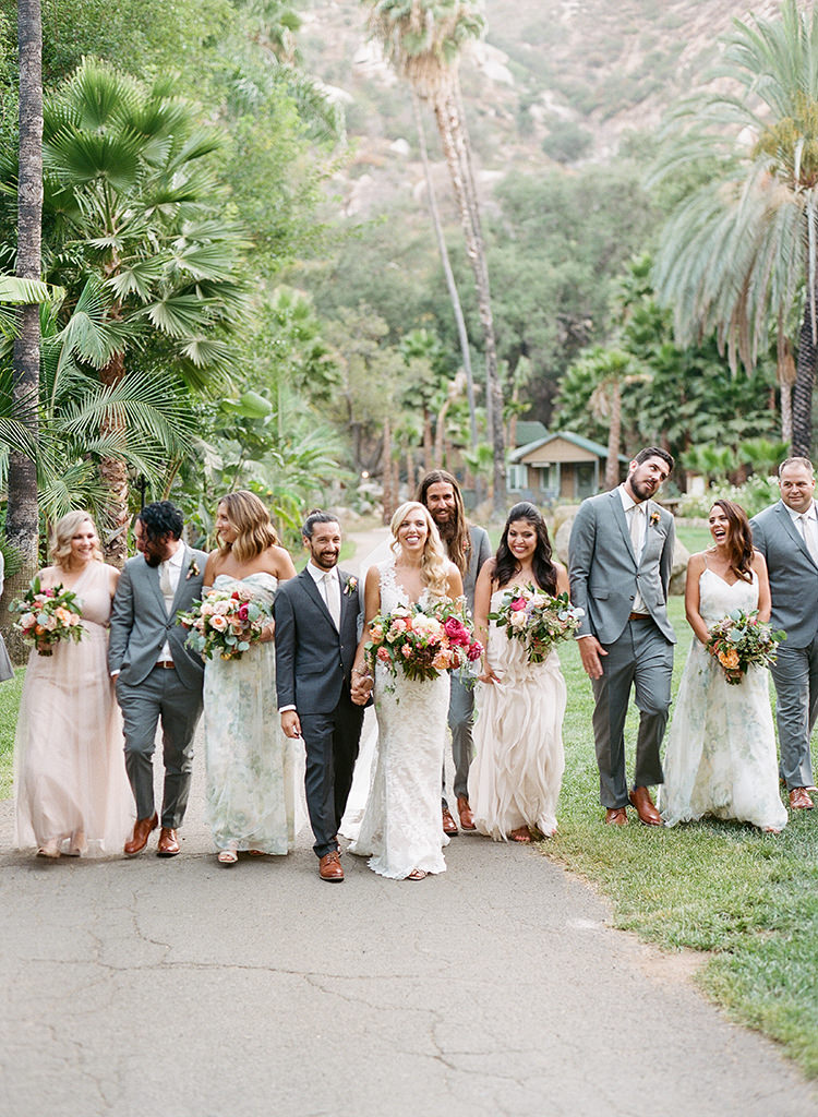 wedding party photography - photo by Erica Schneider Photography https://ruffledblog.com/vegetable-garden-inspired-wedding-with-seriously-lush-details