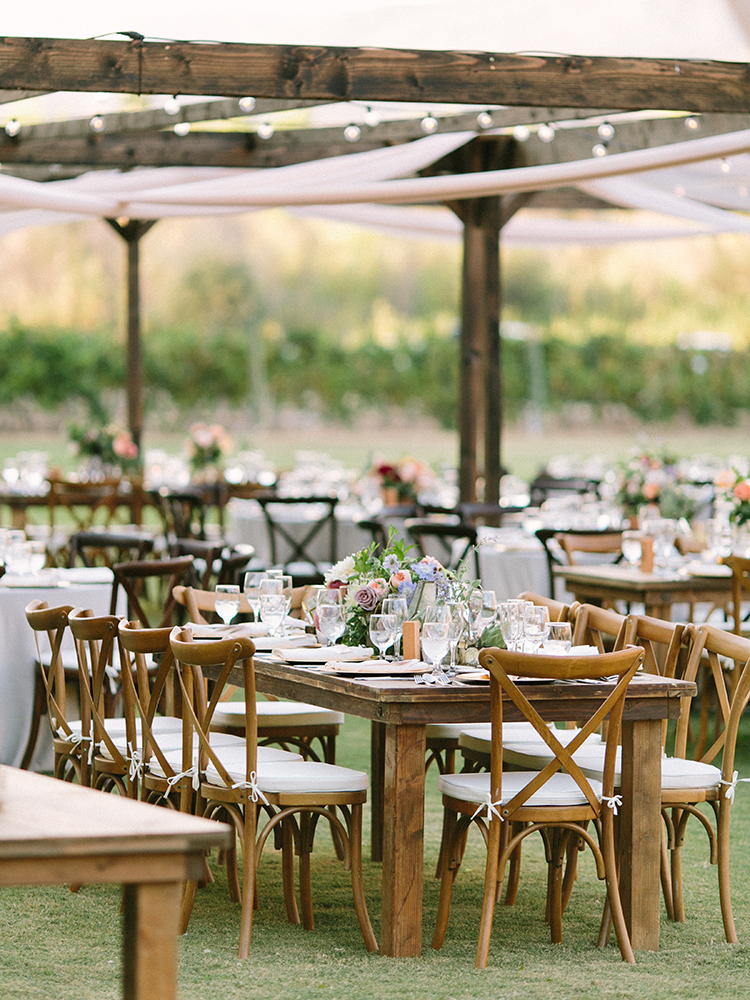 organic backyard wedding receptions - photo by Erica Schneider Photography http://ruffledblog.com/vegetable-garden-inspired-wedding-with-seriously-lush-details