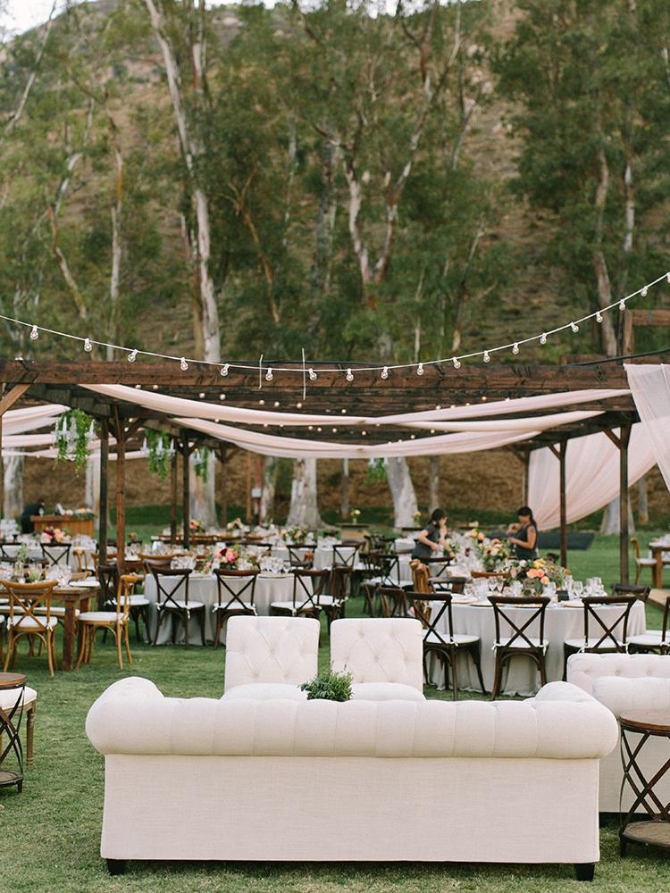 romantic wedding reception ideas - photo by Erica Schneider Photography http://ruffledblog.com/vegetable-garden-inspired-wedding-with-seriously-lush-details