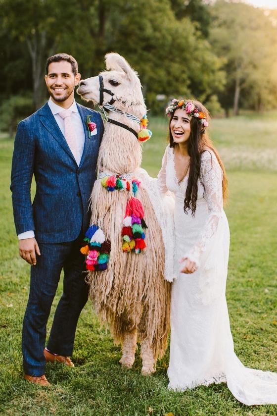 Whimsical Llama Wedding with lots of DIY
