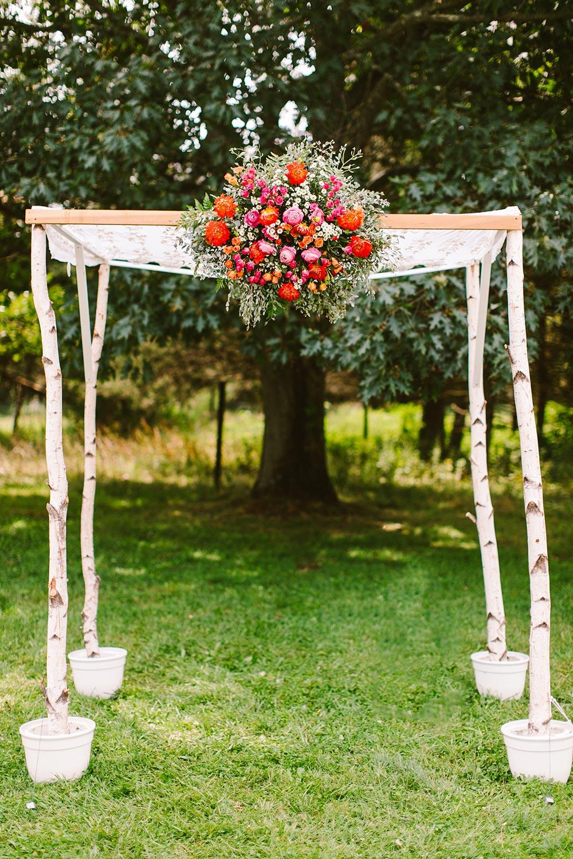 boho handmade wedding chuppah