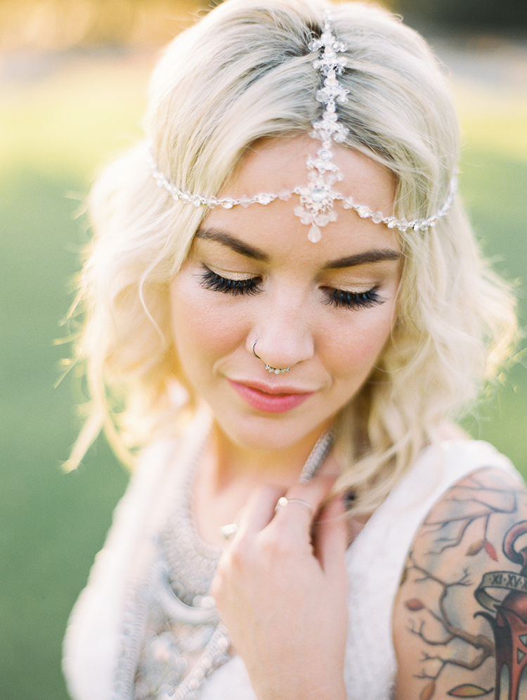 vintage bohemian bridal details - photo by Best Photography http://ruffledblog.com/vibrant-southern-bohemian-wedding-inspiration