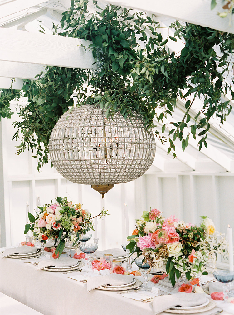 eye catching reception ideas - photo by Ali Mae Photo http://ruffledblog.com/vibrant-summer-wedding-inspiration-with-bridal-fashion