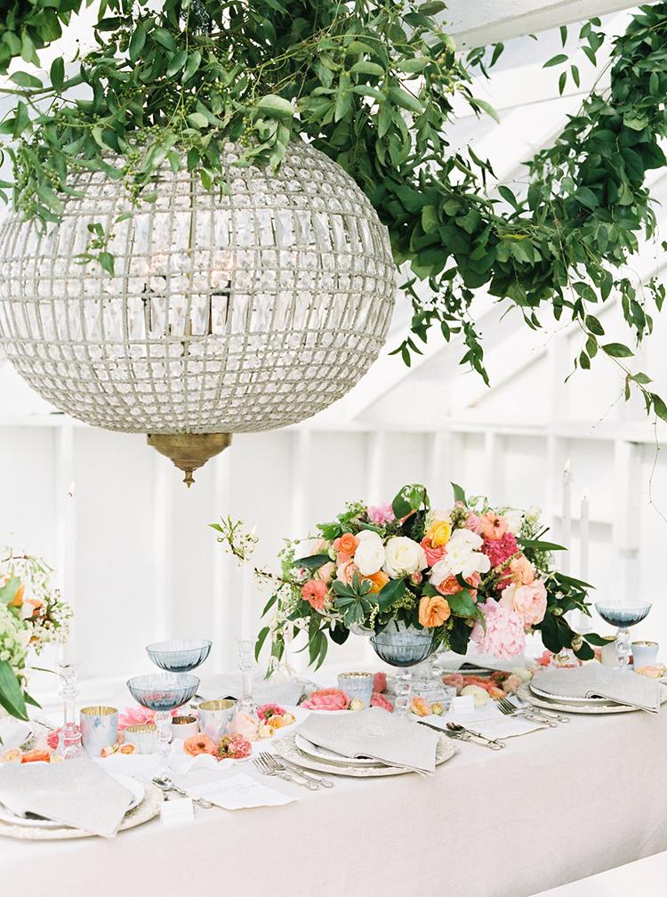 romantic garden weding ideas - photo by Ali Mae Photo http://ruffledblog.com/vibrant-summer-wedding-inspiration-with-bridal-fashion