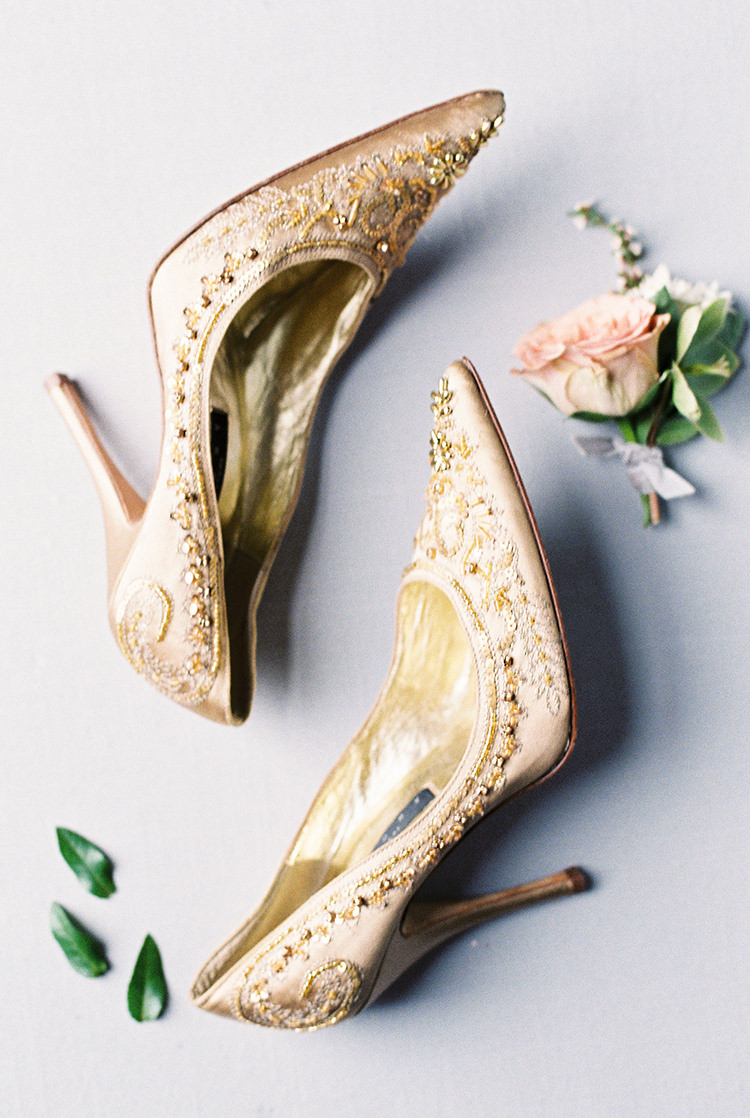 romantic vintage wedding shoes - photo by Chloe Luka Photography http://ruffledblog.com/vintage-bohemia-wedding-ideas-with-statement-floral-arrangements