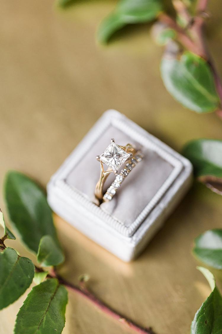 Tuscan Wedding Bands 18 Inspirational princess cut engagement rings