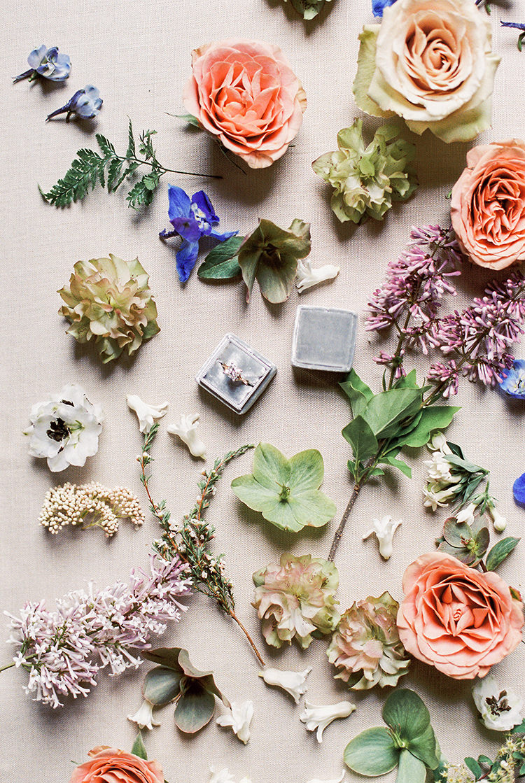 wedding ring boxes - photo by Chloe Luka Photography http://ruffledblog.com/vintage-bohemia-wedding-ideas-with-statement-floral-arrangements