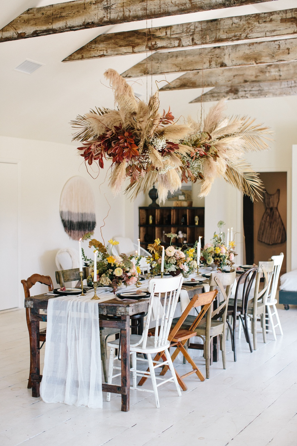 Vintage Bohemian Dinner Party Texas 01