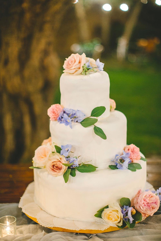 springtime inspired wedding cake
