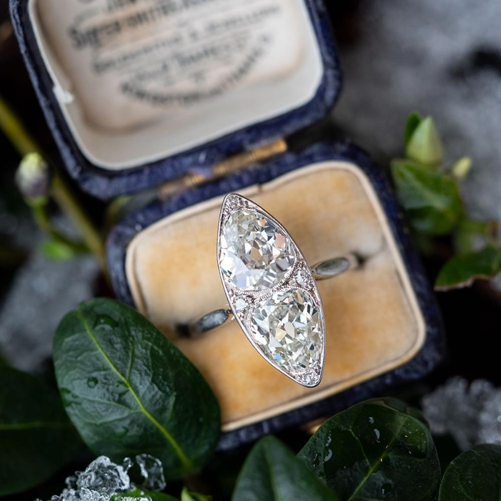 twin pear engagement ring