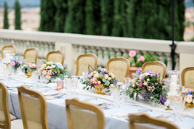 romantic tablescapes - photo by Booth Photographics http://ruffledblog.com/watercolor-destination-wedding-in-florence