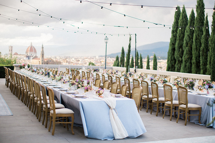 wedding tables - photo by Booth Photographics http://ruffledblog.com/watercolor-destination-wedding-in-florence