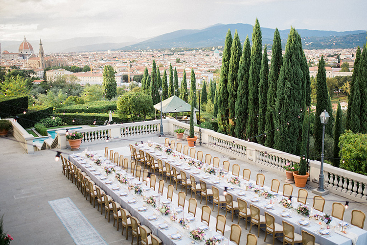 romantic wedding receptions - photo by Booth Photographics https://ruffledblog.com/watercolor-destination-wedding-in-florence