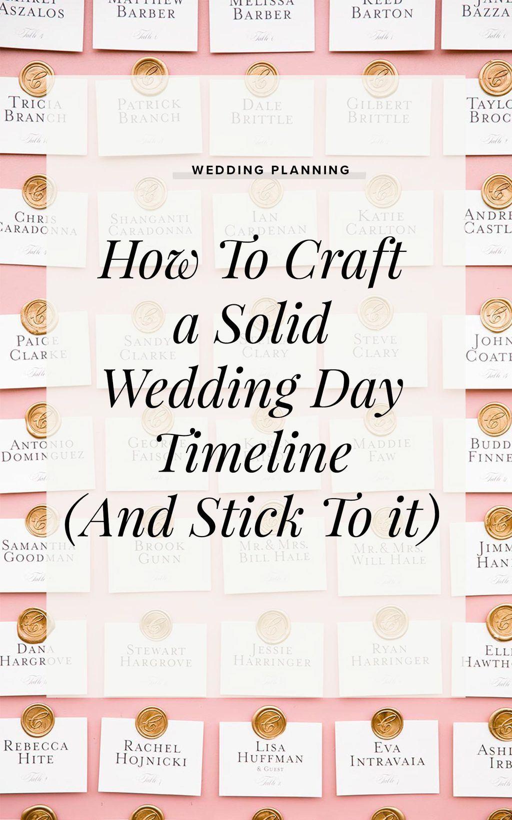 Wedding Day Timeline Ruffled