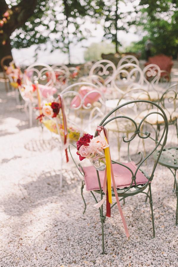 ceremony chairs - photo by Nastja Kovacec https://ruffledblog.com/wedding-in-the-prosecco-hills