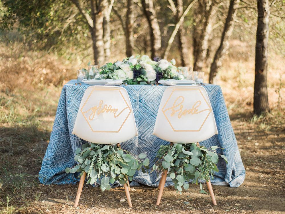 Organic Wedding Inspiration with Shades of Blue · Ruffled