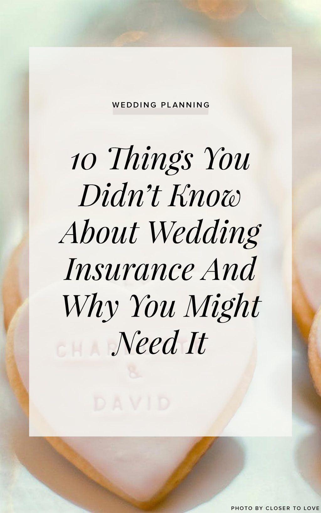 Wedding Insurance Cornerstone Post Ruffled