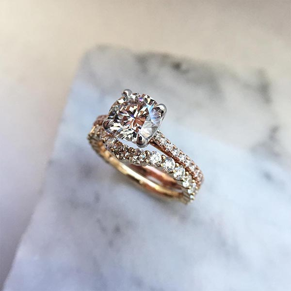 20 Wedding Ring Sets to Ring in the New Year #2018trends #weddingrings #weddingbands #engagementringsets