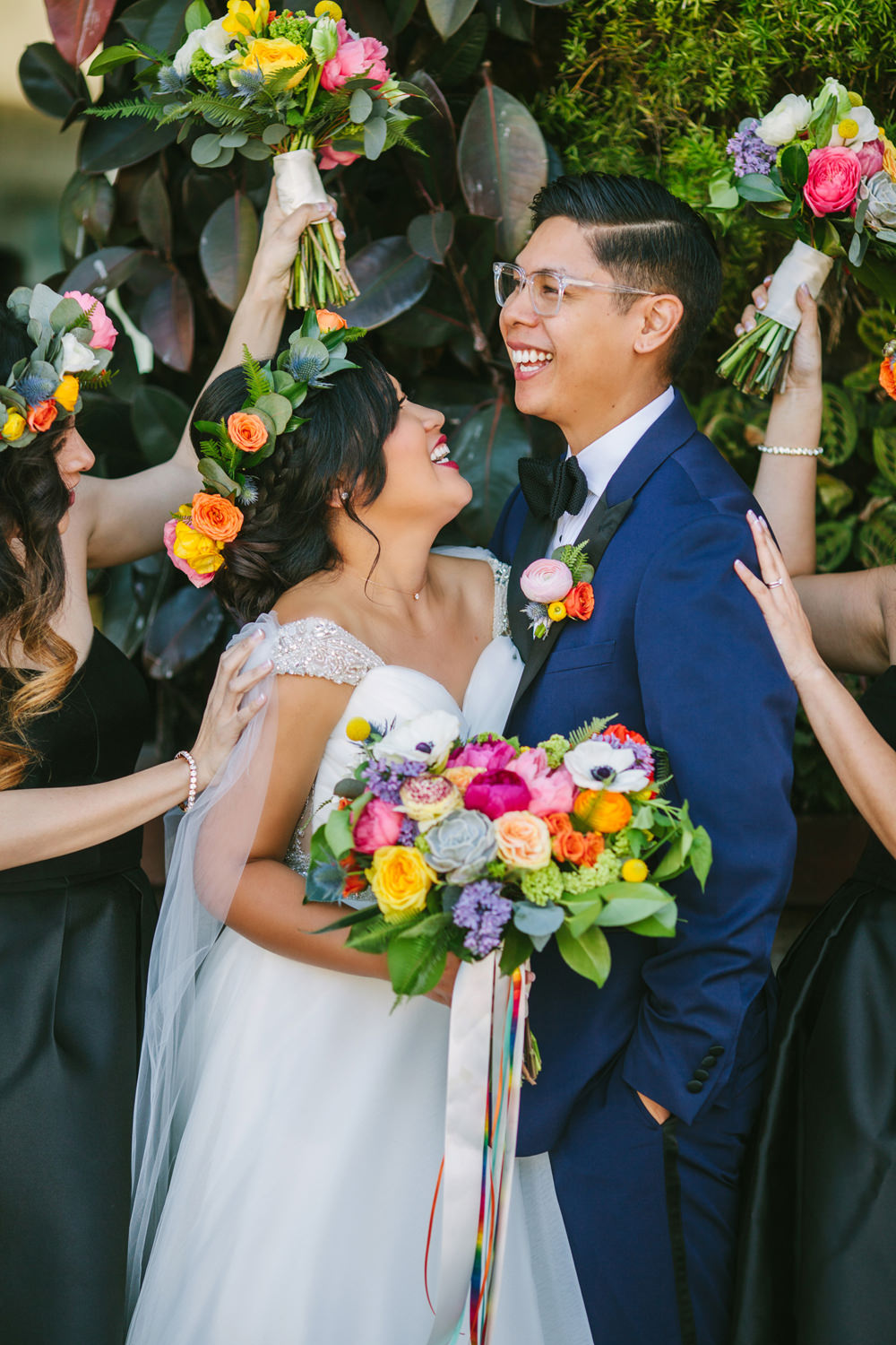 wedding photography - photo by Priscila Valentina http://ruffledblog.com/whimsical-vibrant-laguna-beach-wedding