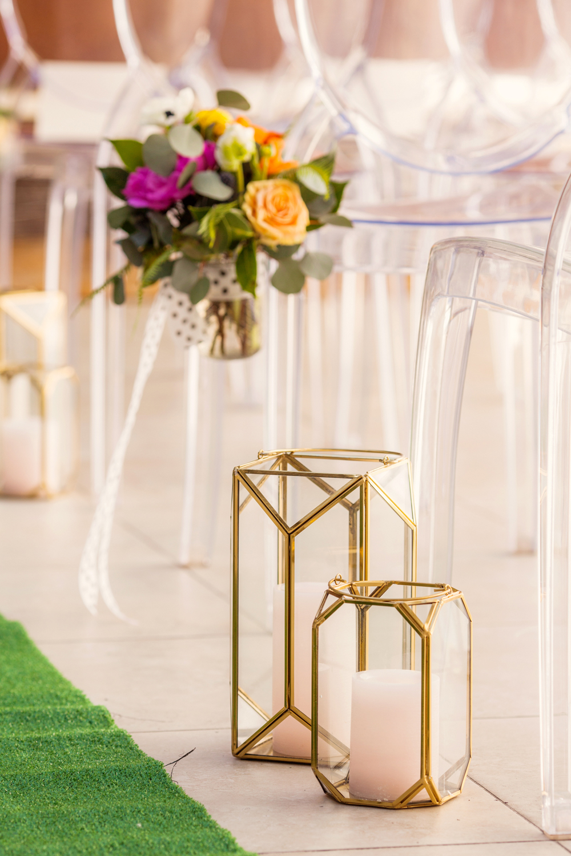 ceremony decor - photo by Priscila Valentina https://ruffledblog.com/whimsical-vibrant-laguna-beach-wedding