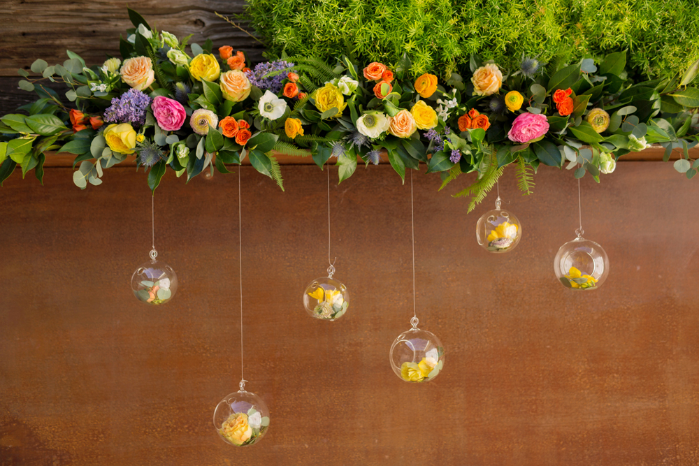 ceremony decor - photo by Priscila Valentina http://ruffledblog.com/whimsical-vibrant-laguna-beach-wedding