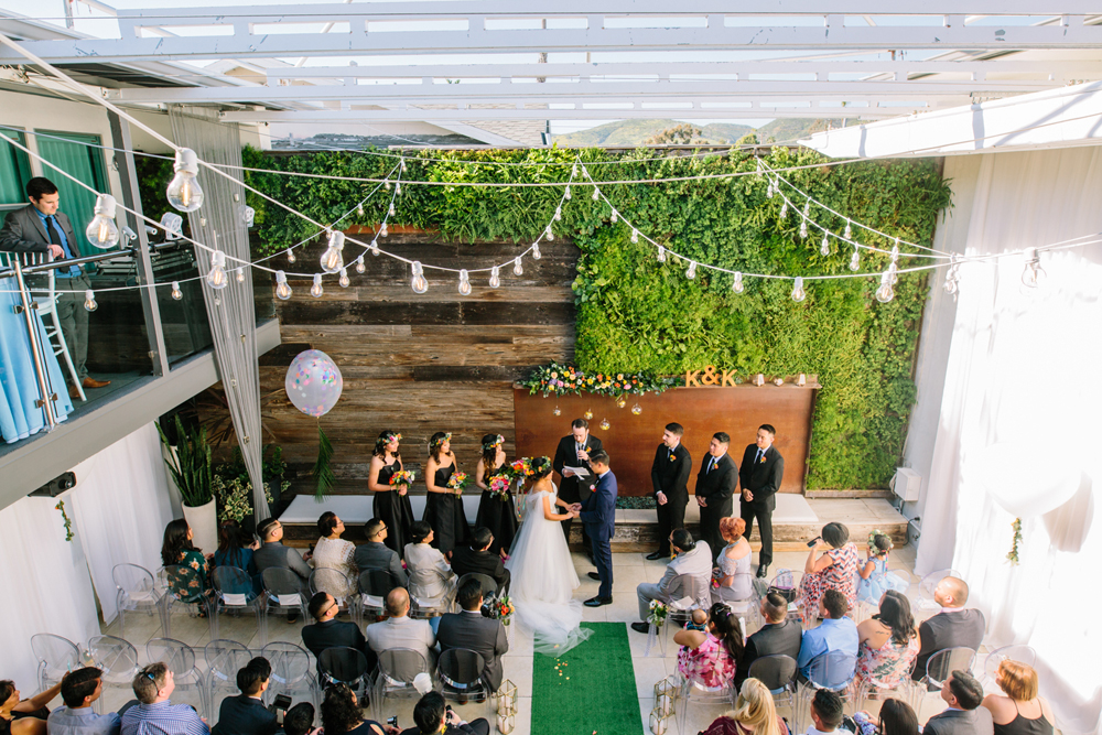 wedding ceremonies - photo by Priscila Valentina http://ruffledblog.com/whimsical-vibrant-laguna-beach-wedding