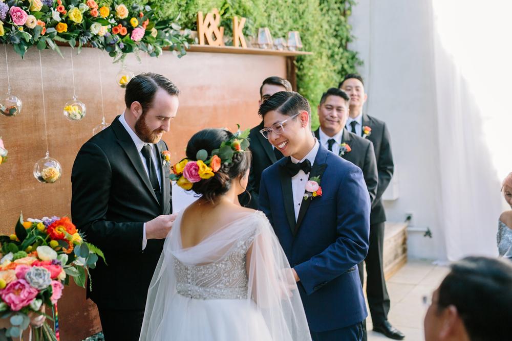 wedding ceremonies - photo by Priscila Valentina https://ruffledblog.com/whimsical-vibrant-laguna-beach-wedding
