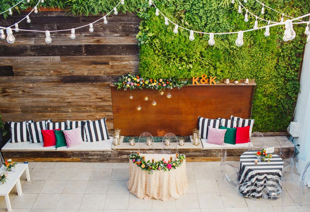 wedding receptions - photo by Priscila Valentina https://ruffledblog.com/whimsical-vibrant-laguna-beach-wedding