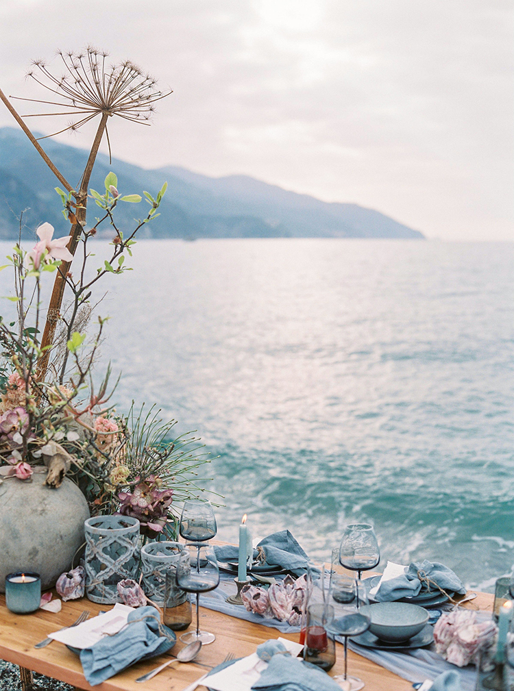 beach wedding inspiration - photo by Wild Beach Elopement Inspiration at Cinque Terre http://ruffledblog.com/wild-beach-elopement-inspiration-in-cinque-terre