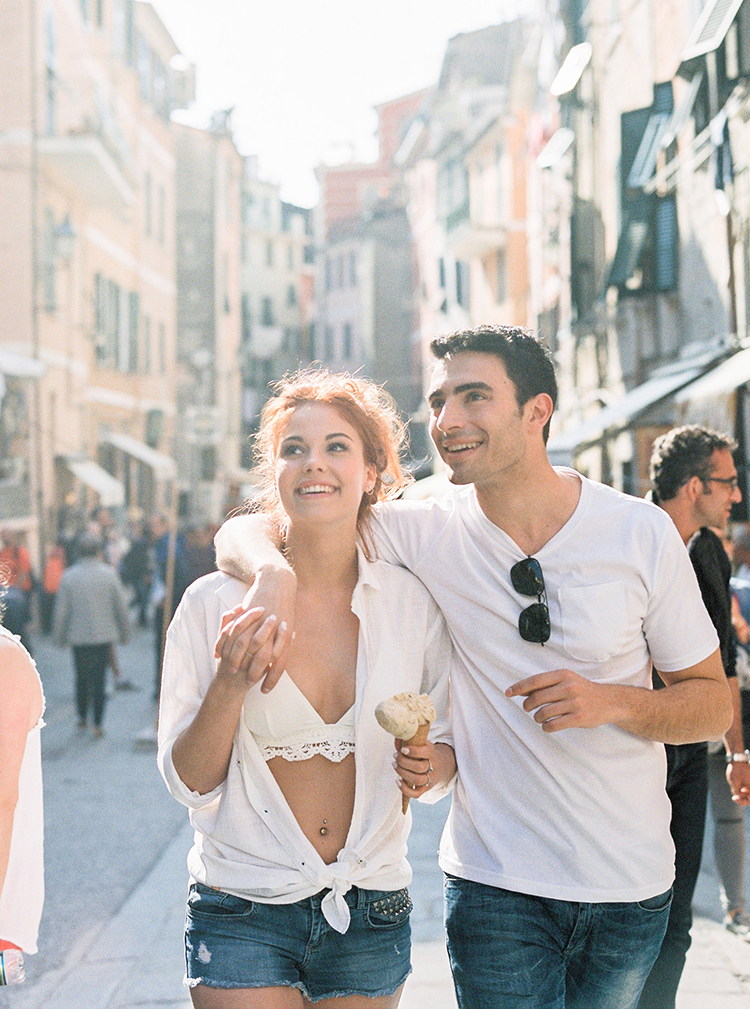 Cinque Terre elopements - photo by Wild Beach Elopement Inspiration at Cinque Terre http://ruffledblog.com/wild-beach-elopement-inspiration-in-cinque-terre