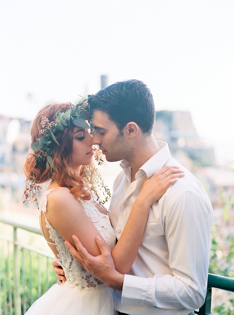 wedding portraits - photo by Wild Beach Elopement Inspiration at Cinque Terre https://ruffledblog.com/wild-beach-elopement-inspiration-in-cinque-terre