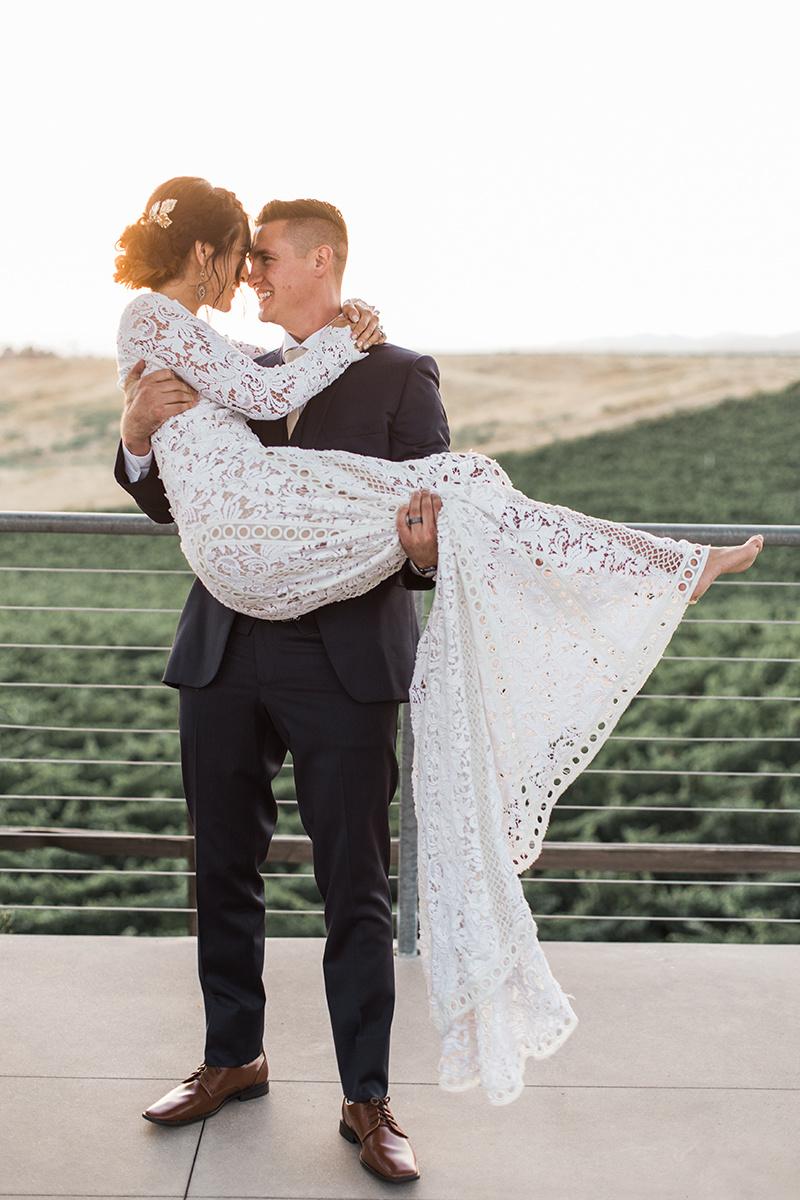 winery wedding inspiration - https://ruffledblog.com/wine-country-wedding-inspiration-with-a-pampas-grass-arch