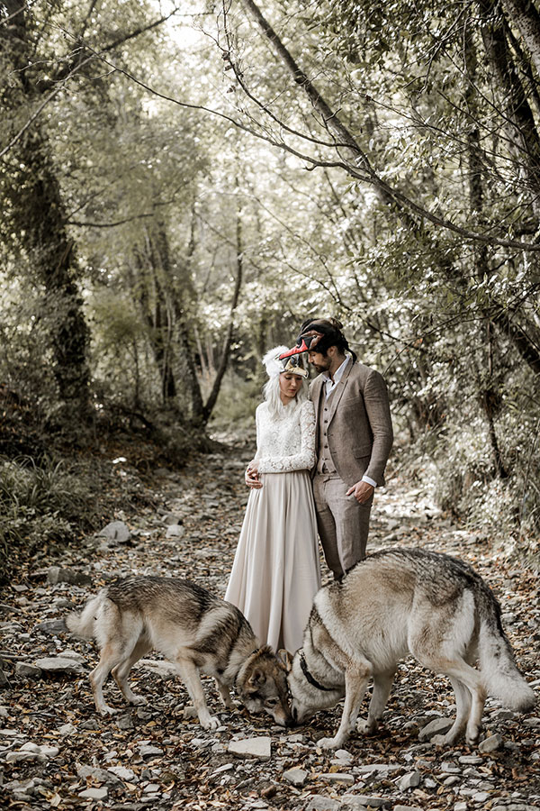 Animalesque Rehearsal Dinner in Tuscan Woodlands #weddinginspo #italy #animalmasks see more: https://ruffledblog.com/woodland-animal-rehearsal-tuscany