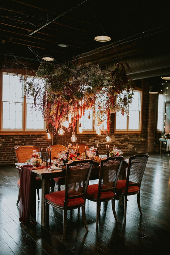 Woodland Tablescape Inspiration in an Industrial Loft
