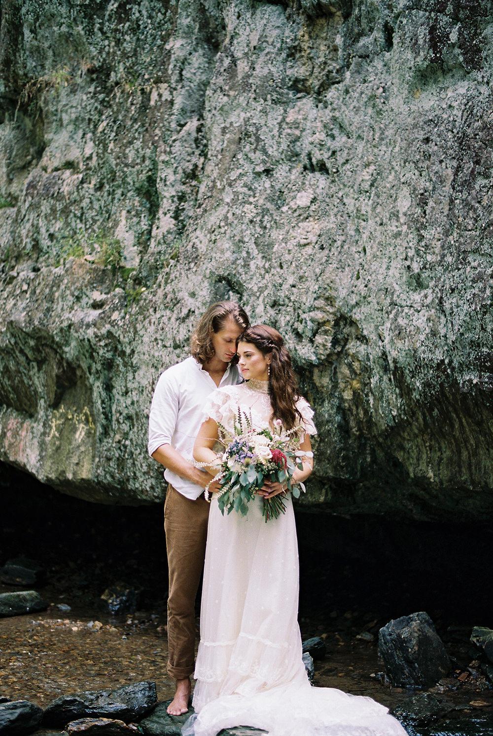 Woodland Waterfall Wedding Inspiration
