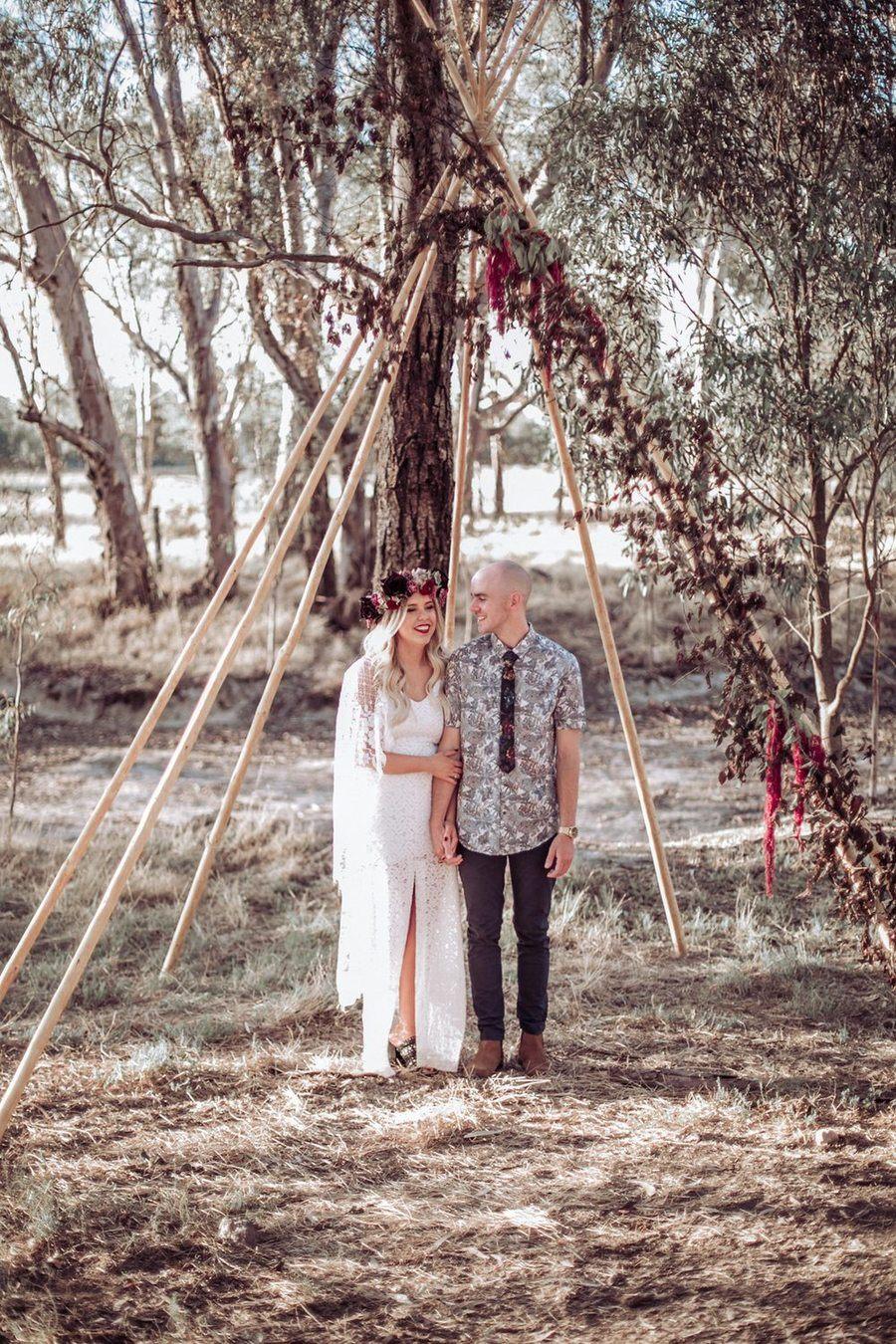Woodsy Boho Wedding 25